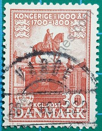 Sello Dinamarca 1955 Estatua ecuestre 30 øre