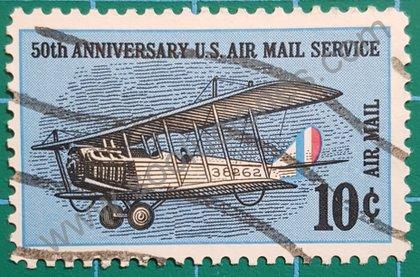 Sellos Estados Unidos 1968 avión biplano