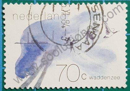 Sellos Países Bajos 1982 ave Branta Leucopsis