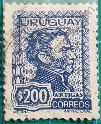 Sellos Uruguay 1973 Artigas Valor 200 $