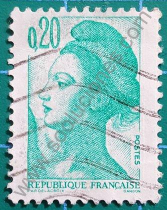 Sello de Francia 1982 Marianne Gandon 0,20 F