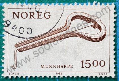 Sello de Noruega 1982 Guimbarda