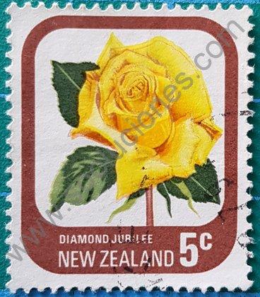 Sellos Nueva Zelanda 1975 Rosa Diamond Jubilee