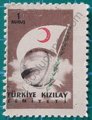 Sellos Turquía 1958 Sociedad de la media luna roja