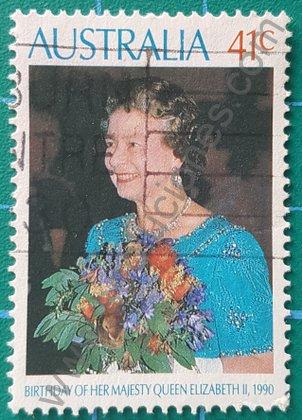 Sello Australia de 1990 cumpleaños 64 de Elizabeth II