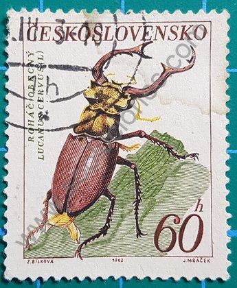Sellos Checoslovaquia 1962 Escarabajo Ciervo