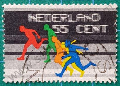Sello Países Bajos 1976 carrera K.N.A.U.
