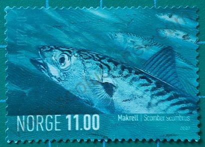 Sello Noruega 2007 Caballa del atlántico