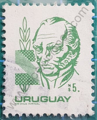 Sello 1982 Uruguay Artigas valor N$ 5