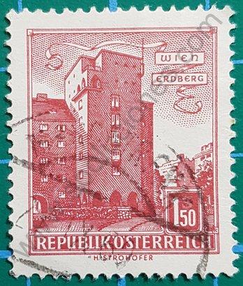 """Sello Austria 1958 Edificio """"Rabenhof"""""""