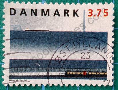 Sello Dinamarca 1997 El Túnel del Este