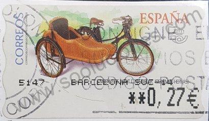 Sello ATM España Mobylette de 1954 Emisión 2003