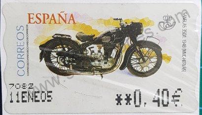 Sello Moto Sanglas Etiqueta ATM 2003