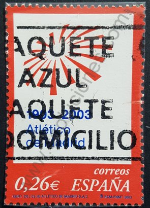 Sello Centenario Atlético de Madrid - España 2003