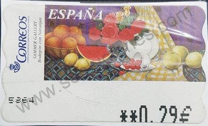 Sello Bodegón de naranjas ATM España 2003