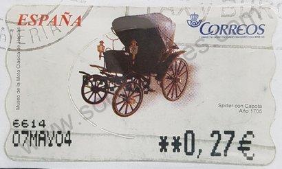 Sello ATM Carruaje Spider - España 2003