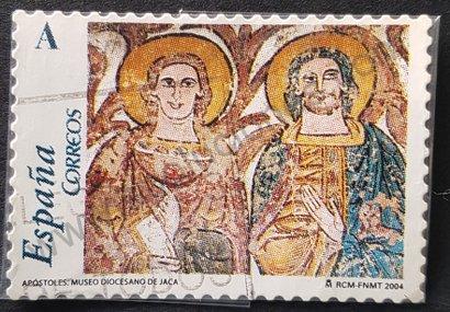 Sello España 2004 Fragmento de mural