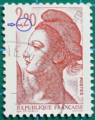 Sello Francia 1985 Marianne Gandon 2,20 ₣