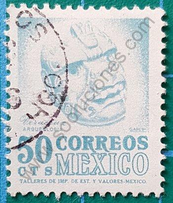 Sello México 1970 Cabeza de Veracruz