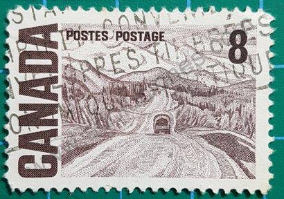 Sello Canadá 1967 Autopista de Alaska