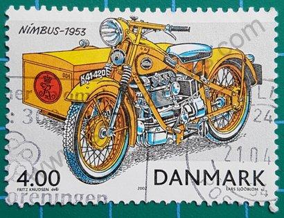 Sello Dinamarca 2002 Moto Nimbus de 1953