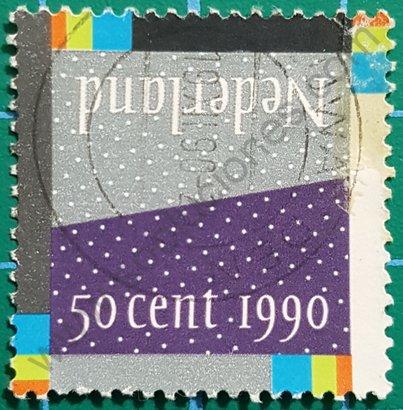Sello Países Bajos 1990 Diciembre tierra y aire
