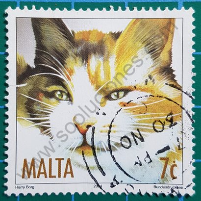 Sello Gato de Carey Malta 2004