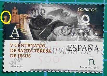 Sello España 2015 V Centenario Sta Teresa