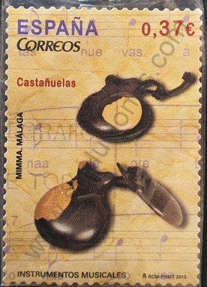 España 2013 Sello Castañuelas valor facial 0,37 €