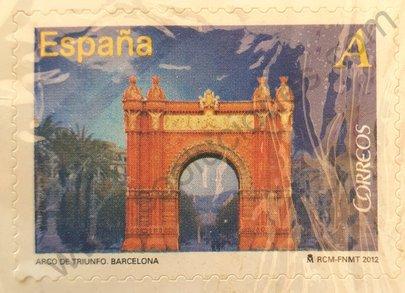 Sello Arco del Triunfo Barcelona España 2012