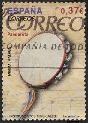Sello España 2013 Pandereta