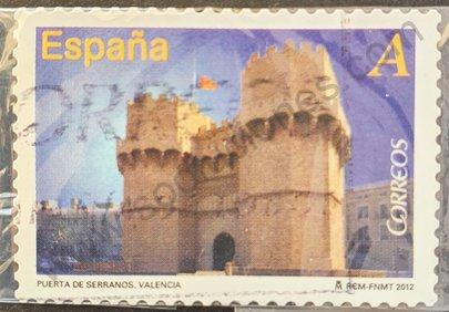 Sello Puerta de Serranos Valencia - España 2012