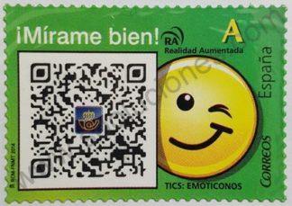 Sello España 2014 Realidad aumentada valor facial «A»