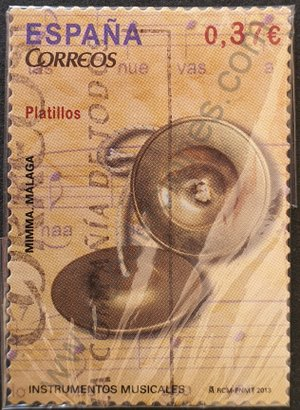 España sello 2013 Platillos valor facial 0,37 €