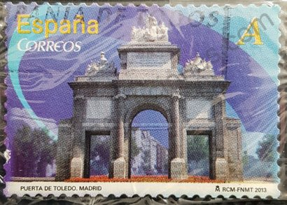 Sello Puerta de Toledo en Madrid - España 2013