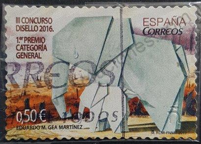 Sello España 2017 Elefantes de papel