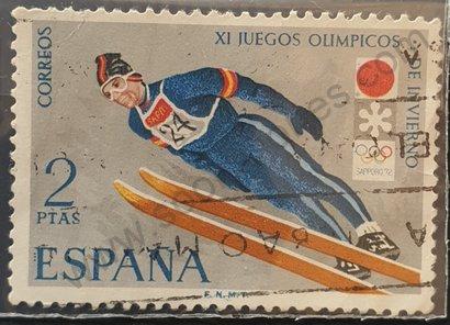 Sello España 1972 Salto de Sky