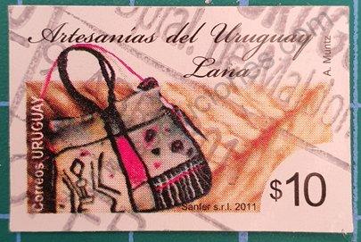 Sello Uruguay 2011 Artesanía de lana