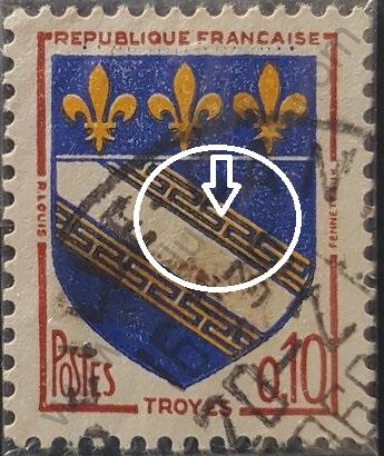 Sello Francia 1963 Troye escudo de armas