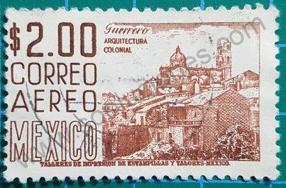 Sello México 1966 Iglesia Santa Prisca