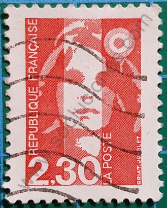Sello Francia 1989 Marianne de Briat 2,30 ₣
