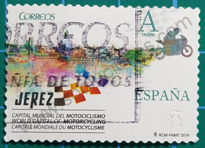 Sello España 2016 Jerez Capital Motociclismo