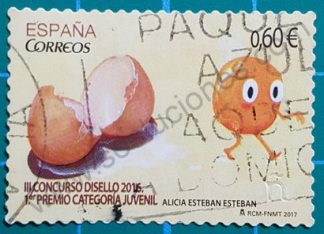 España 2017 Sello Cáscaras de huevo y Yema – € 0,60
