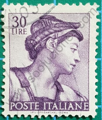 Sello Cabeza de la Sibila Eritrea - Italia 1961