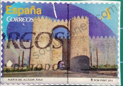 Sello Puerta del Alcázar Ávila - España 2013