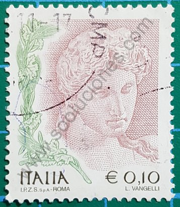 Cabeza de terracota sello de Italia 2004