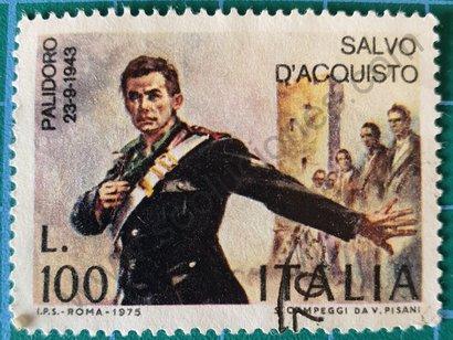 Sello Italia 1975 Salvo D'Acquisto