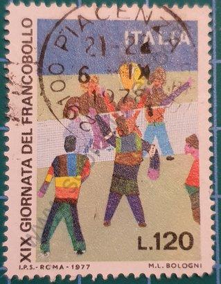 Día del sello Personas jugando - Italia 1977