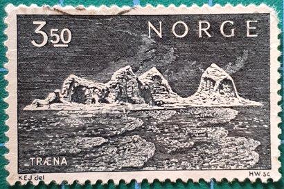 Sello Noruega 1969 Traena isla