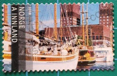 Sello Noruega 2008 Puerto de Oslo